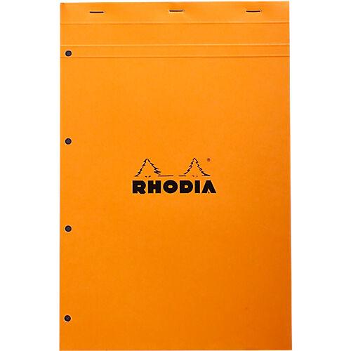 Rhodia Bloc de bureau Rhodia A4+ Orange Carton Quadrillé 80 Pages - 80 Feuilles