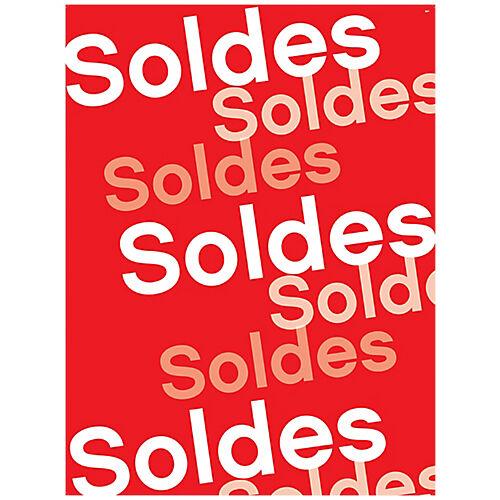 APLI Affiches  Soldes  APLI Rouge  blanc 600 x 800 mm