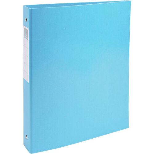 Exacompta Classeur à anneaux Exacompta 4 anneaux 30 mm Carton + papier pelliculé gauf A4 Bleu tropique