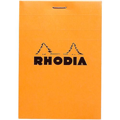 Rhodia Bloc de bureau Rhodia 8 5 x 11 cm Agrafée Orange Carton Quadrillé 80 Pages - 80 Feuilles