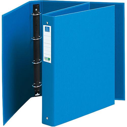 Exacompta Classeur à anneaux Exacompta CleanSafe 4 anneaux 30 mm Carton A4 Bleu
