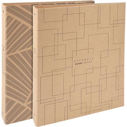 Exacompta Classeur rigide Exacompta 4 anneaux 30 mm Carton recouvert papier A4 Assortiment
