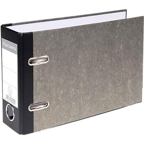 Exacompta Classeur à levier Exacompta Marbre 70 mm Carton recouvert papier 2 anneaux A5 Gris