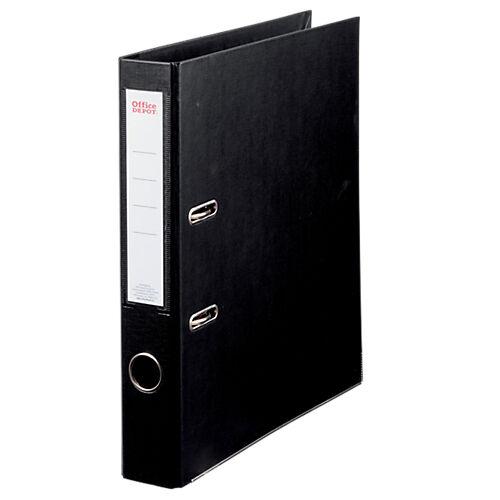 Office Depot Classeur à levier Office Depot Plasticolor 50 mm Carton 2 anneaux A4 Noir