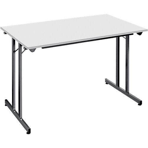 Sans marque Table pliante 1600 x 800 x 740 mm Gris