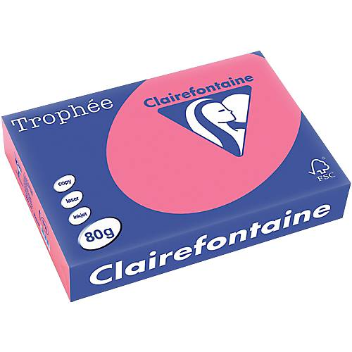 Clairefontaine Papier couleur Clairefontaine A4 80 g/m² Rose Trophee - 500 Feuilles