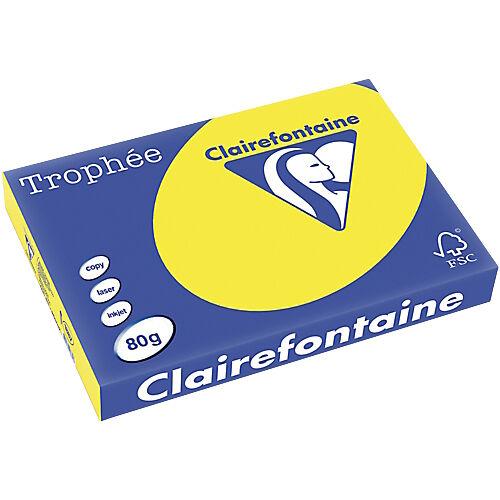 Clairefontaine Papier couleur Clairefontaine A3 80 g/m² Jaune Trophee - 500 Feuilles
