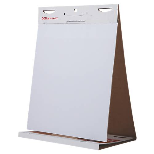 Office Depot Chevalet de table à feuilles 20 Carton  papier 70 g/m² Office Depot 60 x 50 cm - 20 Feuilles