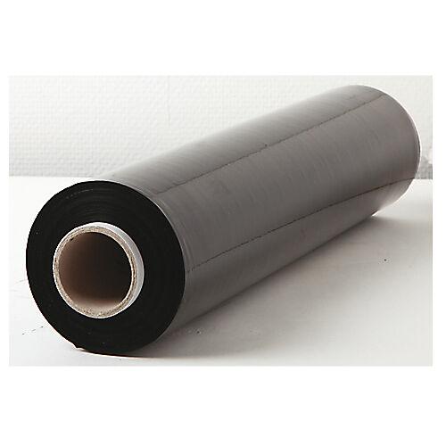 Sans marque Bobines de film étirable Opaque Noir 450 mm x 300 m 17 µm - 6 Rouleaux