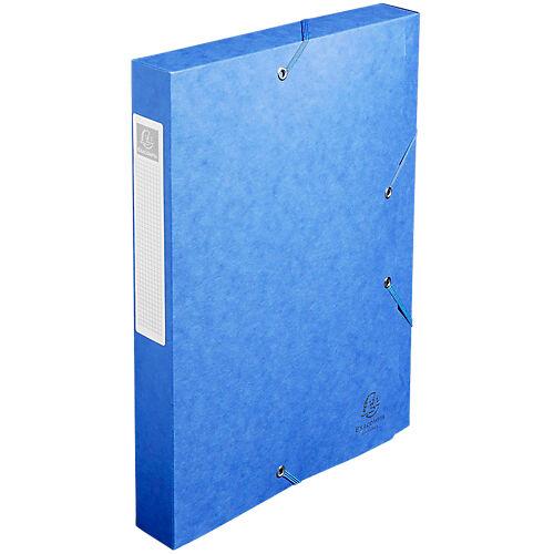 Exacompta Boites de classement à élastique Exacompta Carte lustrée véritable 24 x 4 x 32 cm Bleu 10 Unités