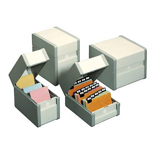 Nobo Boîte à fiches Nobo Classement en largeur 15 x 10 5 cm Gris