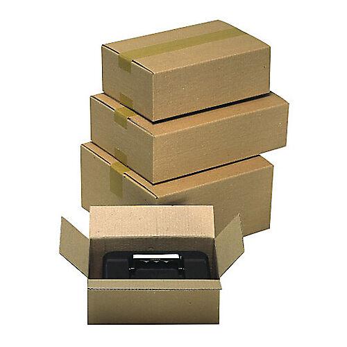 Sans marque Caisse carton Carton 500 (l) x 300 (P) x 150 (H) mm Kraft - 15 Unités