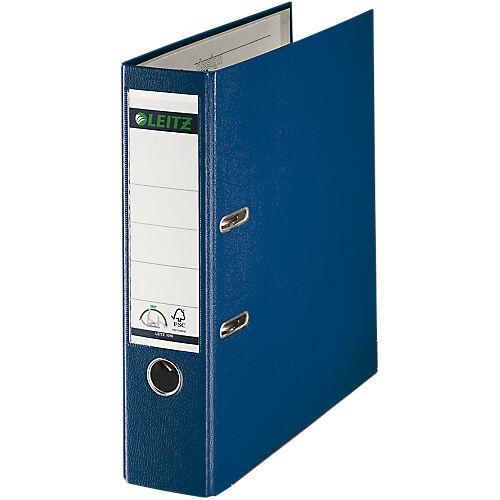 Leitz Classeur à levier Leitz 1010 1010 80 mm Lisse Polypropylène  carton 2 anneaux A4 Bleu