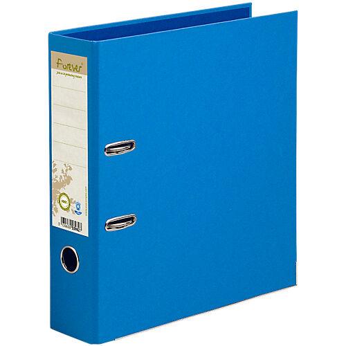 Exacompta Classeur à levier Exacompta Forever 80 mm Lisse Carton recouvert papier 2 anneaux A4 Bleu