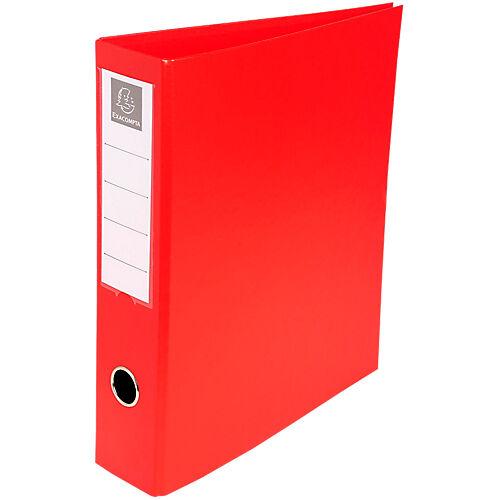 Exacompta Classeur à anneaux Exacompta 4 anneaux Carton recouvert PP A4 Rouge