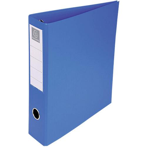 Exacompta Classeur à anneaux Exacompta 4 anneaux 50 mm Carton recouvert PP A4 Bleu