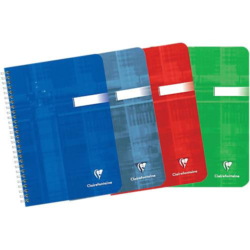Clairefontaine Cahier Clairefontaine A7 90 g/m² Papier Assortiment 180 Pages - 90 Feuilles