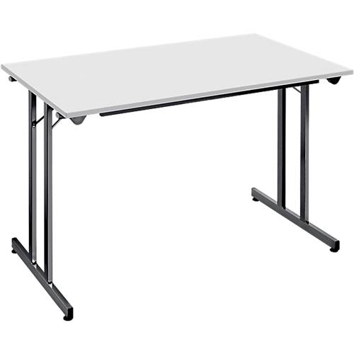 Sans marque Table pliante 1200 x 800 x 740 mm Gris