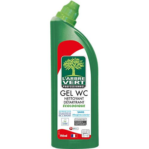 L'ARBRE VERT Flacon gel WC écologique L'ARBRE VERT Sans allergènes  Produit Respectueux de l'environnement  Désodoriser  Détartrer - 750 ml
