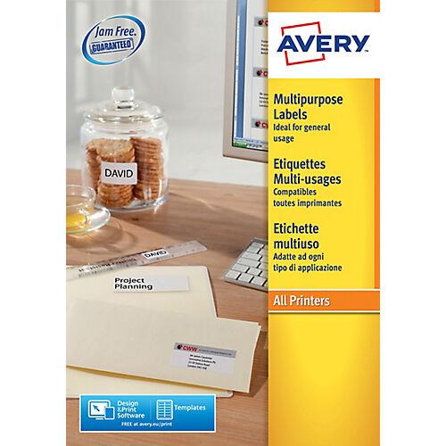Avery Étiquettes multifonctions Avery 3653 Blanc 140000 étiquettes