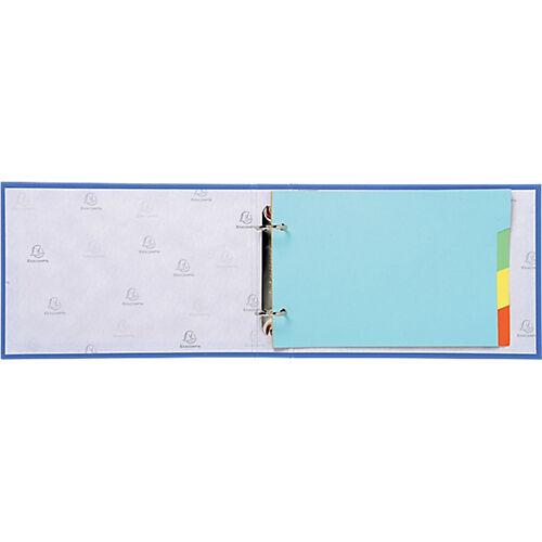 Exacompta Classeur à anneaux Exacompta 2 anneaux 25 mm Carton recouvert PP Coloris aléatoire
