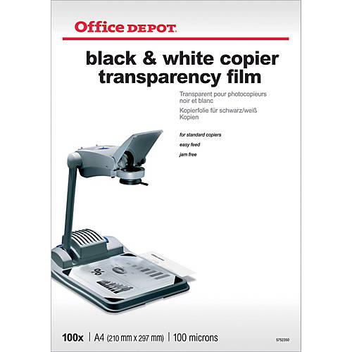 Office Depot Transparents de rétroprojection 100 µm Office Depot A4 21 x 29 7 cm - 100 Feuilles