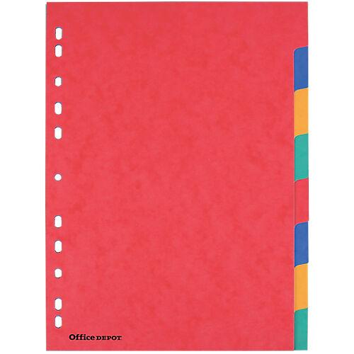 Office Depot Intercalaires Office Depot A4 6 couleurs 8 intercalaires Perforé Carton 225 g/m² Vierge