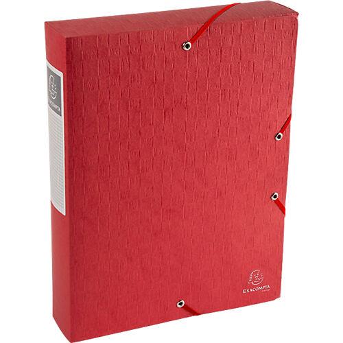 Exacompta Boîte de classement Exacompta Carte lustrée véritable 6 x 33 x 32 cm Rouge