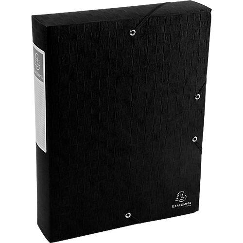 Exacompta Boîte de classement Exacompta Carte lustrée véritable 6 x 33 x 32 cm Noir