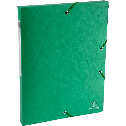Exacompta Boîte de classement Exacompta Carte lustrée véritable 2 5 x 33 x 32 cm Vert