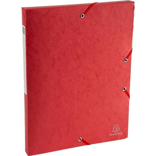 Exacompta Boîte de classement Exacompta Carte lustrée véritable 2 5 x 33 x 32 cm Rouge