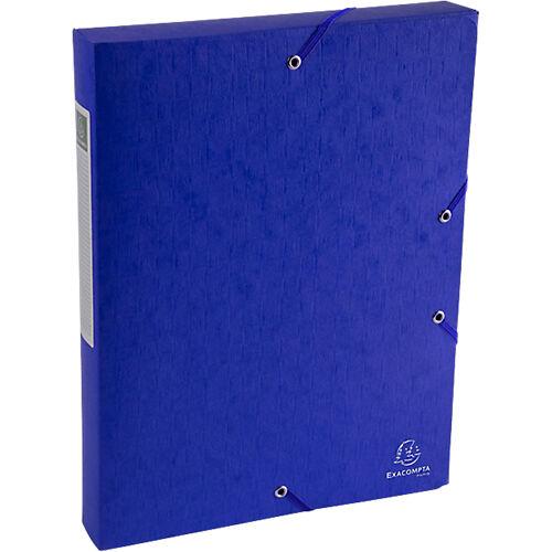 Exacompta Boîte de classement Exacompta Carte lustrée véritable 4 x 33 x 32 cm Bleu