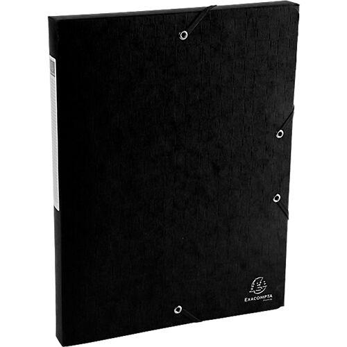 Exacompta Boîte de classement Exacompta Carte lustrée véritable 2 5 x 33 x 32 cm Noir