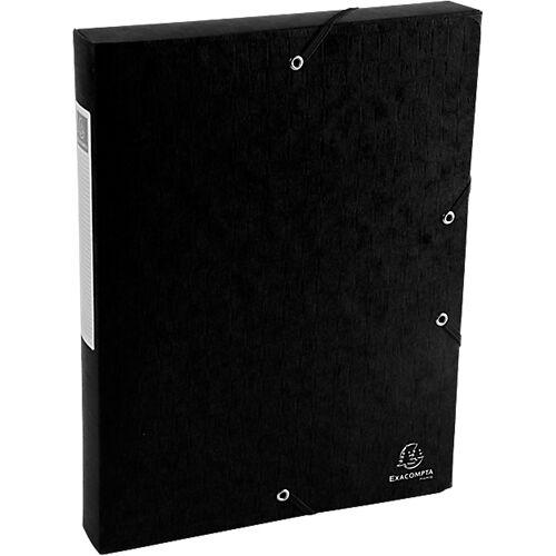 Exacompta Boîte de classement Exacompta Carte lustrée véritable 4 x 33 x 32 cm Noir