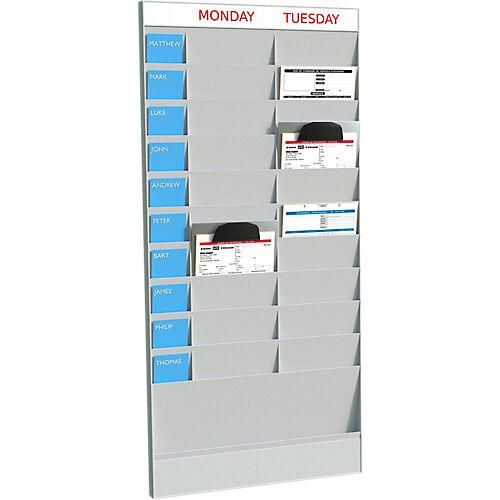 Paperflow Planificateurs de bureau suivant Polystyrène Paperflow 23 04 x 29 05 cm -  Unités
