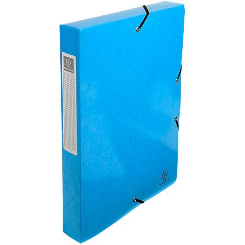 Exacompta Boites de classement à élastique Exacompta 350 feuilles Iderama 25 x 4 x 33 cm Bleu