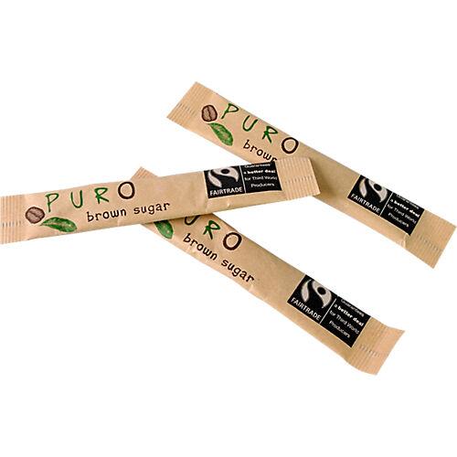 Puro Sucre brun en buchettes Marron Puro 530897 - 1000 Unités de 3 g