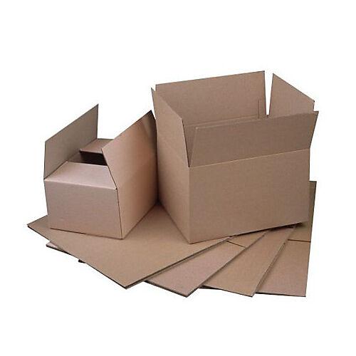 Sans marque Caisse carton Carton 500 (l) x 400 (P) x 400 (H) mm Kraft - 20 Unités