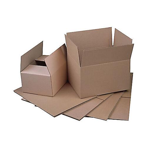 Niceday Caisse américaine simple cannelure Niceday Carton ondulé simple cannelure 490 (l) x 290 (P) x 280 (H) mm Marron - 20 Unités