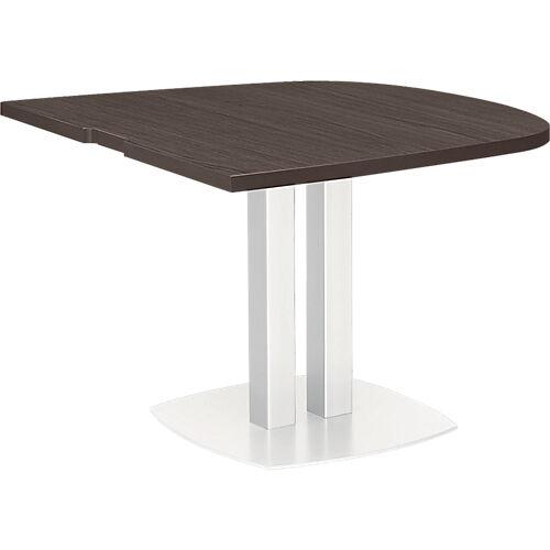 Gautier Office Table demi ovale d'extrémité Gautier Office Xenon 1020 x 1150 mm Imitation chêne royal