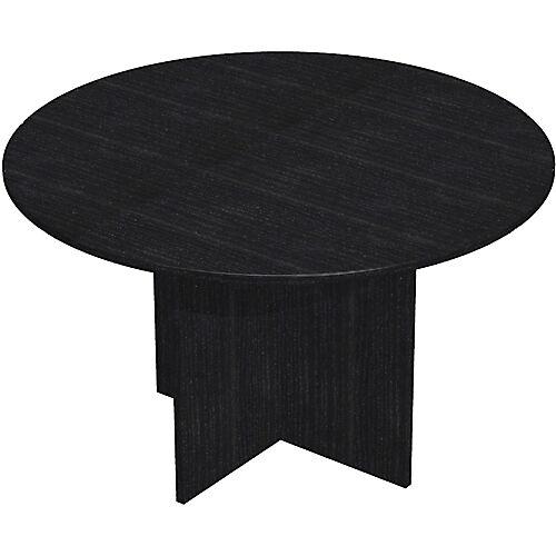 Sans marque Table de réunion Easy Select 1200 x 740 mm Imitation frêne noir