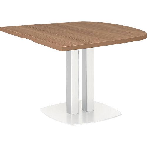 Gautier Office Table demi ovale d'extrémité Gautier Office Xenon 1020 x 1150 mm Imitation Merisier