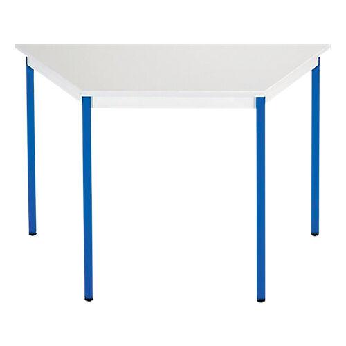 Sans marque Table de réunion modulaire trapèze Domino 1400 x 700 x 740 mm Gris