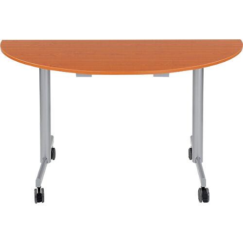 Sans marque Table de réunion abattante 1400 x 700 x 740 mm Imitation Merisier