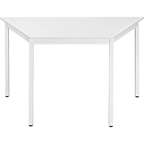 Sans marque Table de réunion modulaire trapèze Domino 1200 x 600 x 740 mm Blanc