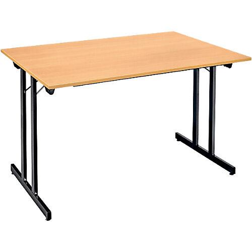 Sans marque Table pliante 1200 x 800 x 740 mm Imitation Hêtre