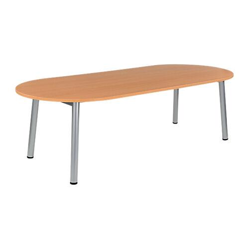 Sans marque Table de réunion oblongue Congrès 2400 x 1020 x 730 mm Imitation Hêtre