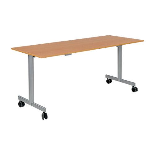Sans marque Table de réunion abattante 1600 x 700 x 740 mm Imitation Hêtre