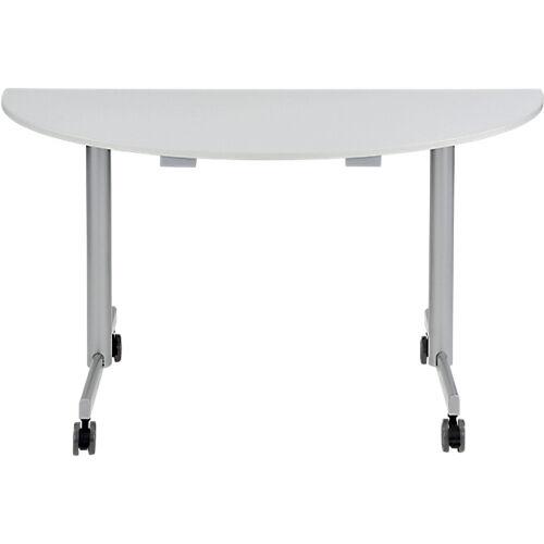Sans marque Table de réunion abattante 1400 x 700 x 740 mm Gris