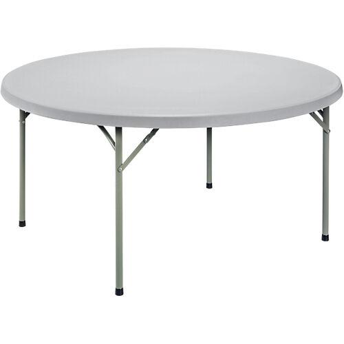 Sans marque Table pliante ronde 740 mm Gris